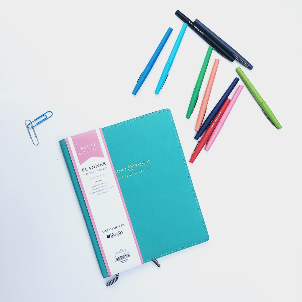 Paper Mate Flair Pens and Day Designer