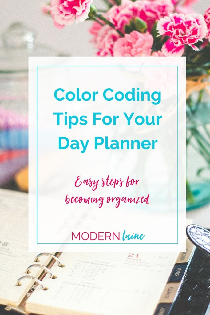 Color Coding Day Planner Modern Laine