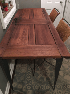 Vicki S Vintage Door Table With Angle Iron Table Legs