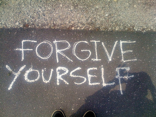 """Forgive yourself for not getting it right"""
