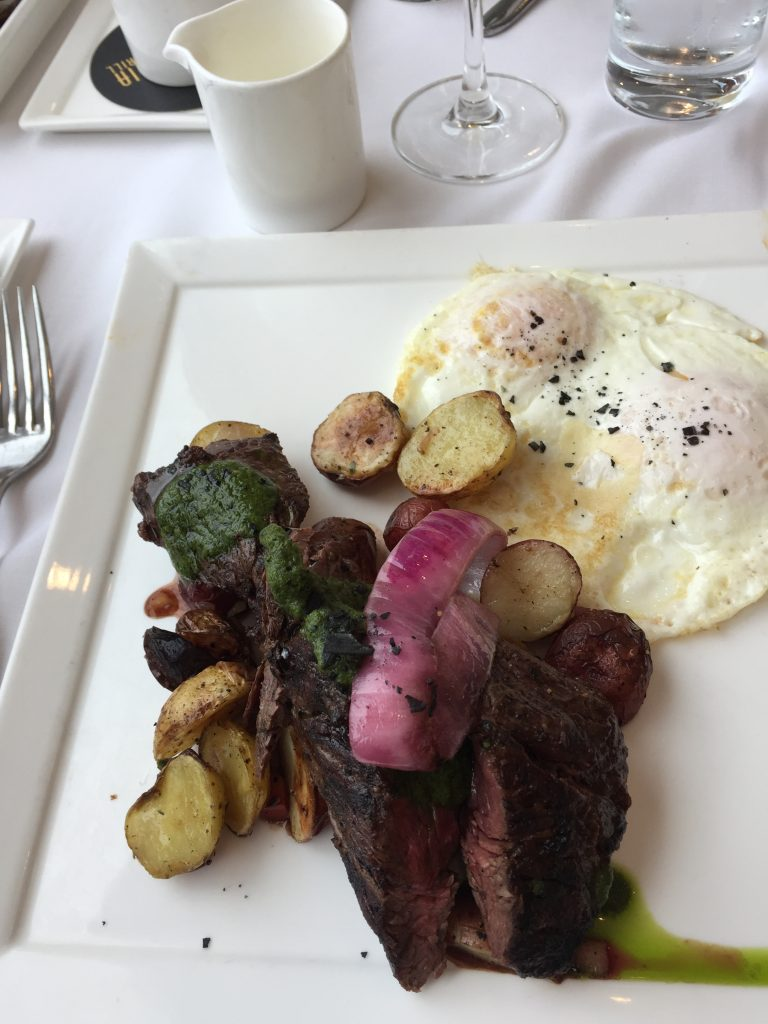 Grilled Hangar Steak with Eggs California Grill Brunch