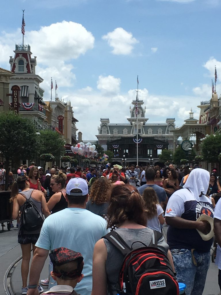 Crowds in Magic Kingdom July