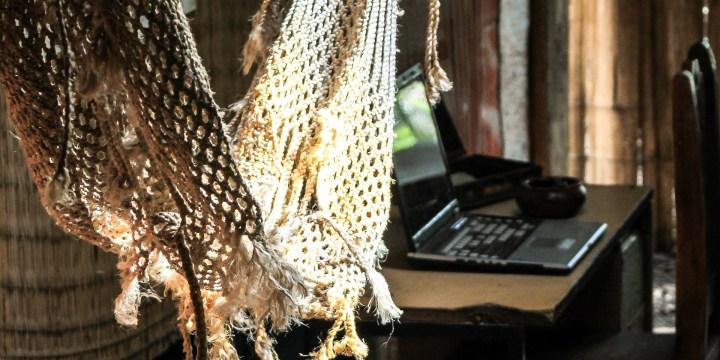 Laptop on a Hammock