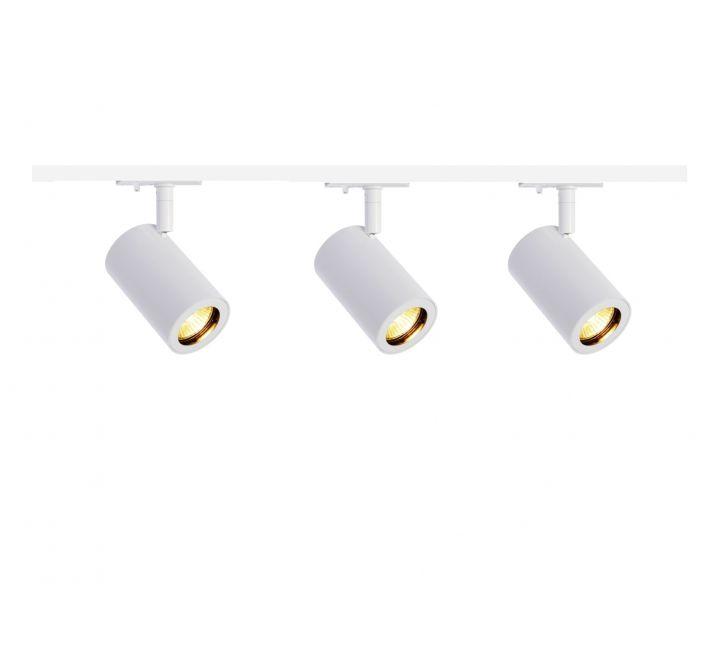 mls 800151 enola x 3 track lighting kit white 1m track kit dimmable