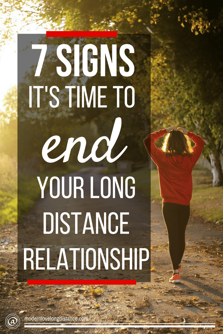 how to end long distance relationship