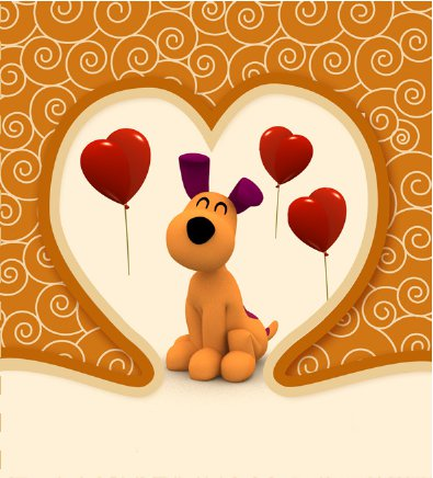 Loula from Pocoyo Valentine's Day Card