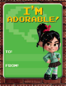 Wreck-It Ralph & Friends Printable Valentine's Day Cards