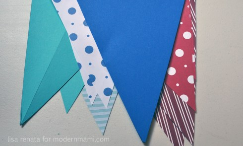 Fourth of July Banner Cut Triangles