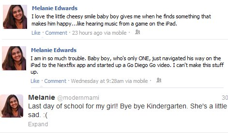 Parenting Moment Shared Online