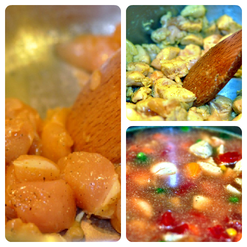 Steps for Cooking Chicken and Vegetable Soup