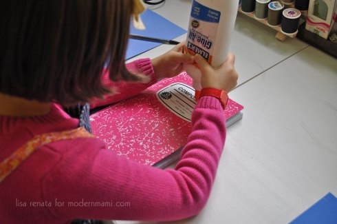 Use Cardstock to Cover Your Winter Snowflake Journal