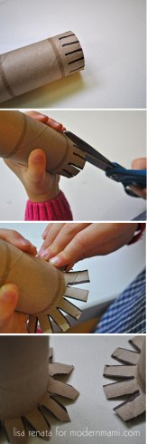 Creating a Snowflake Stamp from Toilet Paper Roll