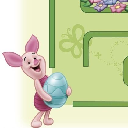 Easter Winnie the Pooh & Piglet Printable Maze