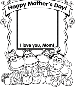 Pajanimals Mother's Day Printable Coloring Sheet