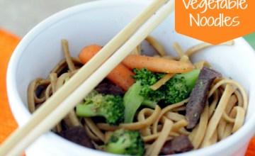 Teriyaki Beef & Vegetable Noodles {Recipe}
