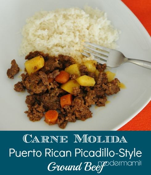 Puerto rican carne molida picadillo style ground beef recipe carne molida recipe for ground beef forumfinder Images