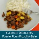 Puerto Rican Carne Molida (Picadillo Style Ground Beef) {Recipe}