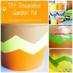 DIY Decorative Garden Pot for Your Spring or Summer Garden