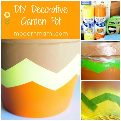 DIY Decorative Garden Pot