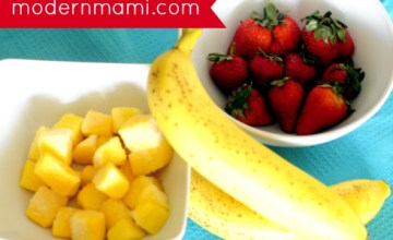 Tropical BananaBerry Smoothie Recipe: A Strawberry, Banana, Mango Fusion Kids Will Love!