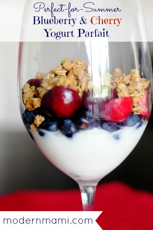 Blueberry & Cherry Yogurt Parfait