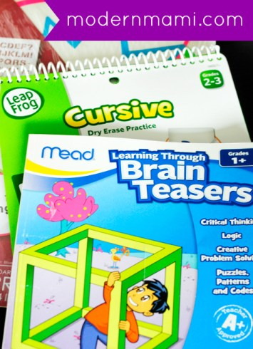Summer Learning and Fun Kit for Kids with Workbooks