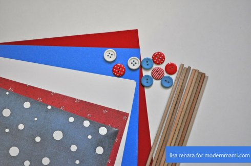 Materials Needed for DIY Fourth of July Pinwheels