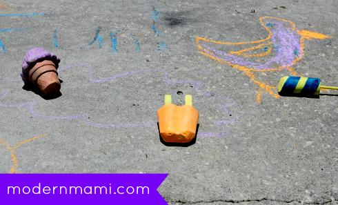 Sidewalk Chalk Summer Fun