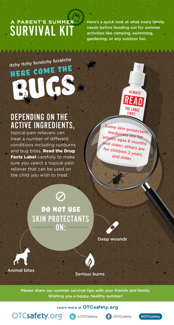 Caring for Bug Bites Infographic