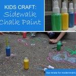 Summer Fun: 3 Simple Ingredients to Make Sidewalk Chalk Paint {Kids Craft}