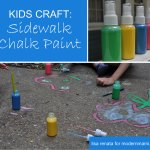 Summer Fun: 3 Simple Ingredients to Make Sidewalk Chalk Paint {Kids Craft}