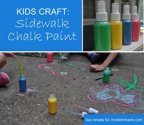 DIY Sidewalk Chalk Paint {Kids Craft}