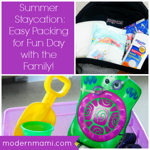 Summer Staycation Tips: Easy Packing for a Fun Day with the Family!