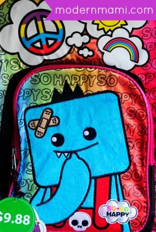 Girls School Backpack: So So Happy
