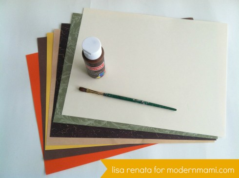 Fall Tree Art Craft for Kids, Materials Needed
