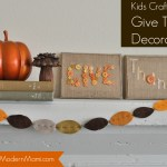 Thanksgiving Kids Craft: Give Thanks Decorative Art