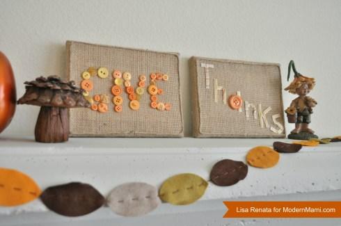 Thanksgiving Kids Craft: Give Thanks Decorative Art