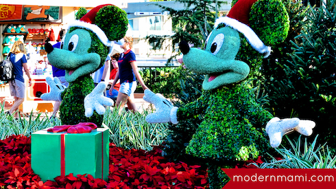Epcot Holiday Decorations at Walt Disney World
