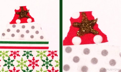 DIY Washi Tape Christmas Card Star