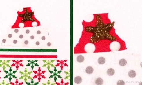 DIY Washi Tape Christmas Card Star