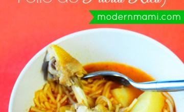 Puerto Rican Chicken Noodle Soup (Sopa de Fideos con Pollo de Puerto Rico) {Recipe}