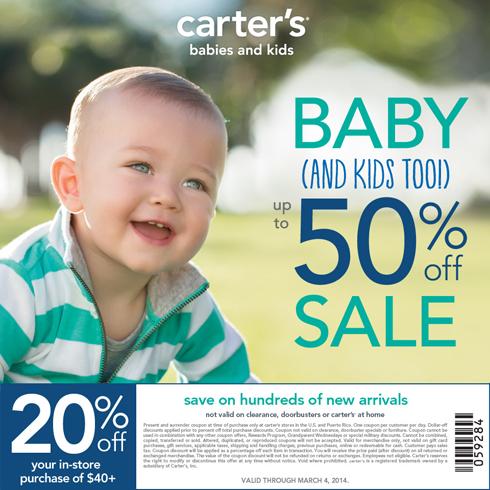 Carter's 20% Off Coupon