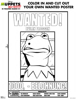 The Muppets Printable Coloring Page Activity Sheet for Kids