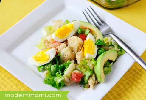 Puerto Rican Codfish Salad, Ensalada de Bacalao