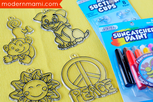 Materials Needed for Painting Suncatchers Spring Break Kids Activity