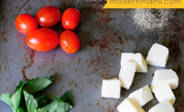 Simple Fresh Tomato and Mozzarella Cheese Salad {Recipe}