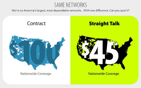Straight Talk Wireless Service Networks