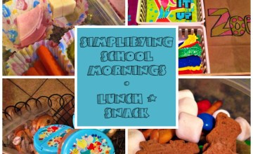 Simplifying School Mornings: How to Pack School Lunches & Snacks for the Week