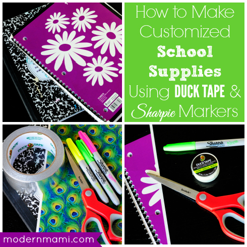 How to Make Customized School Supplies with Duck Tape & Sharpie Markers