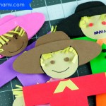 Fall Fun for Kids: Foam Scarecrow Puppet Craft {Free Printable}